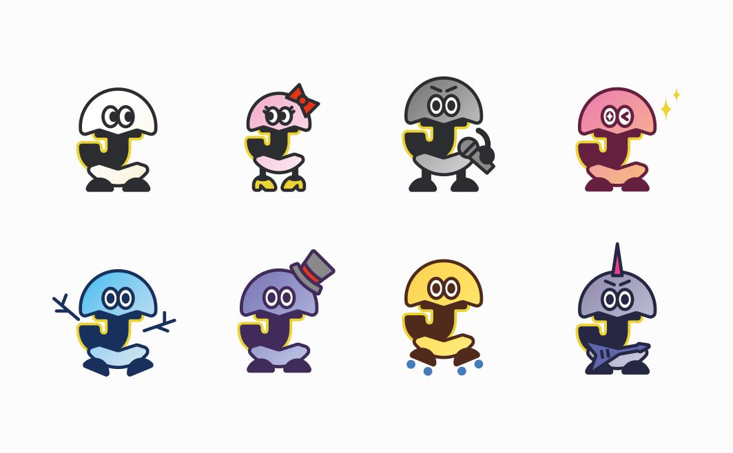 カルティエSDPチーム(VI/国際コンペ勝利)/グループイメージキャラクター(Character Design)/百聯集団(CI/中国巨大流通事業者)/Innobeauty DELAGEDIVA(VI)/LNG JAPAN(CI)